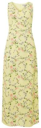 Dorothy Perkins Womens Petite Yellow Ditsy Floral Print Maxi Dress