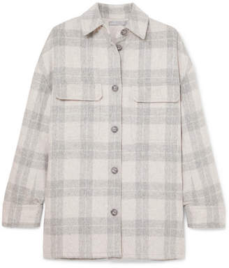 Vince Checked Wool-blend Flannel Jacket