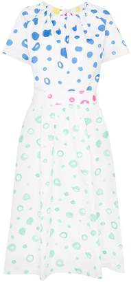 Mira Mikati dot print flared cotton dress