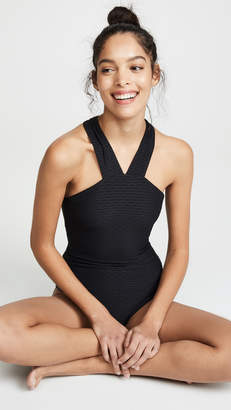 Shoshanna High Neck One Piece Swimsuit