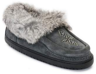 Manitobah Mukluks Journey Genuine Rabbit Fur Trim Moccasin