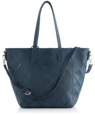 Shiraleah Perforated Faux Leather Tote