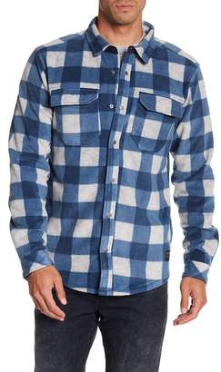Quiksilver Front Button Plaid Print Regular Fit Shirt