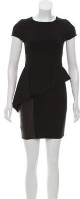 Alice + Olivia Megan Asymmetrical Peplum Dress w/ Tags