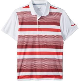 Puma Kids Turf Stripe Polo Jr Boy's Short Sleeve Knit