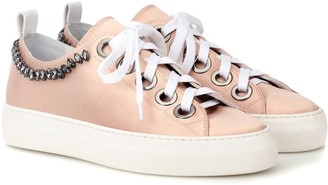 N°21 Embellished leather sneakers