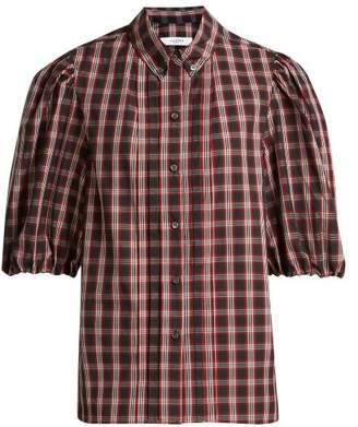 Etoile Isabel Marant Orem Plaid Puff Sleeve Shirt - Womens - Black Red