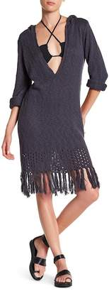 Volcom Shred Till Dead Hooded Sweater Dress