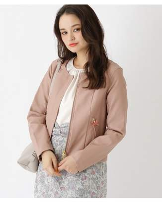 Couture Brooch (クチュール ブローチ) - クチュールブローチ [WEB限定販売]裏地花柄レザー調ジャケット