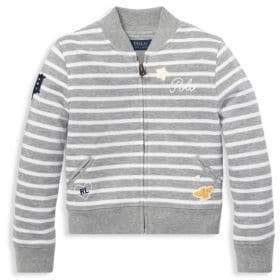 Ralph Lauren Little Girl's& Girl's Stripe Embroidered Jacket