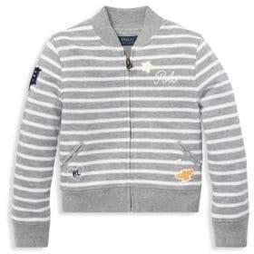 Ralph Lauren Little Boy's& Boy's Stripe Embroidered Jacket