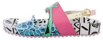 Sophia Webster Leather Printed Sandals