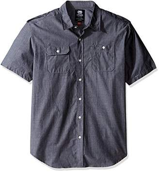 Ecko Unlimited Unltd. Men's Solid City Short Sleeve Woven