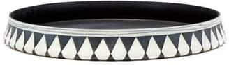 L'OBJET L'Objet Lobjet - Tribal Small Round Platter - Black White