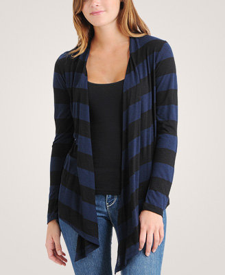 Slub Striped Knit Cardigan