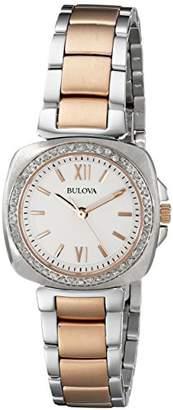 Bulova Women's 98R206 Diamond Gallery Analog Display Japanese Quartz Two Tone Watch