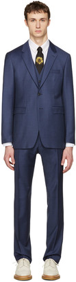 Burberry Blue Millbank Travel Three-Piece Suit $2,295 thestylecure.com