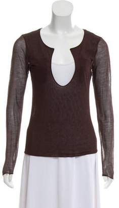 Bottega Veneta Silk Sheer Top