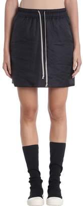 Drkshdw Black Kilt Drawstring Skirt