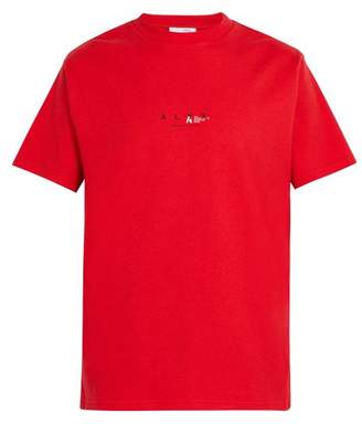 1017 Alyx 9sm - Logo Print Recycled Cotton Blend T Shirt - Mens - Red