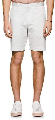 Theory Men's Evan Diamond-Print Cotton Shorts