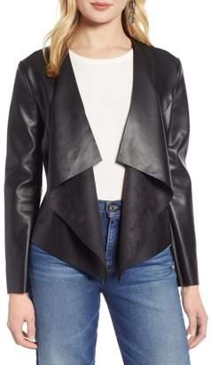 Halogen Drape Faux Leather Jacket