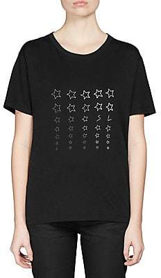 Saint Laurent Women's Cotton Star Print T-Shirt