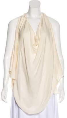 Haute Hippie Silk Cold-Shoulder Top