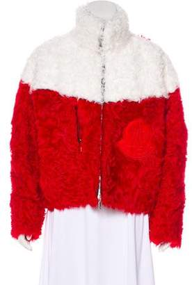 Moncler Gamme Rouge Julia B Shearling Jacket w/ Tags