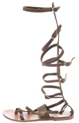 Ancient Greek Sandals Multistrap Suede Sandals