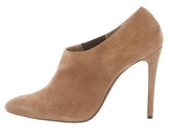 Ralph Lauren Collection Suede Semi Pointed-Toe Booties