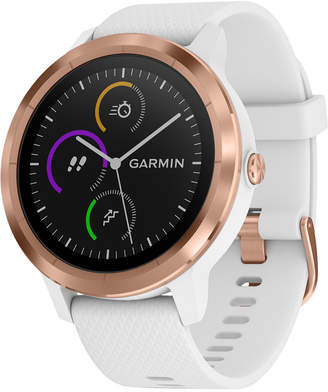 Garmin Unisex vivoactive 3 White Silicone Strap Touchscreen Smart Watch 43.4mm