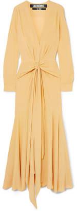 Jacquemus Viavélez Twist-front Georgette Maxi Dress