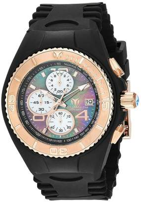 Technomarine Cruise TM-115350 Black Stainless Steel & Silicone Strap Quartz 42mm Mens Watch