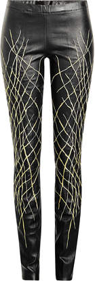 Haider Ackermann Printed Leather Leggings
