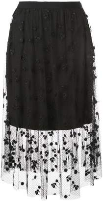 Josie Natori embroidered skirt