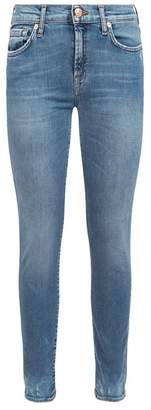 7 For All Mankind Super Skinny Bleach Hem Jeans