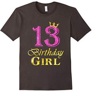 13th Birthday Girl Pink Princess T-Shirt