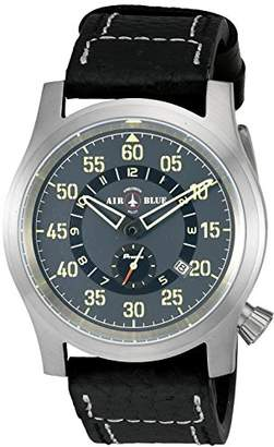 Deep Blue 'Papa Praesto' Automatic Stainless Steel and Leather Aviator Watch (Model: ABPPSS)