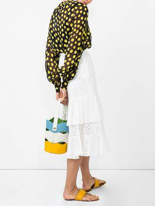ALEXACHUNG Embroidered flared midi skirt