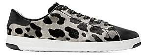 Cole Haan Women's GrandPro Leopard-Print Calf Hair Leather Tennis Sneakers