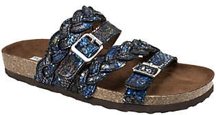 White Mountain Leather Slide Sandals - Holland
