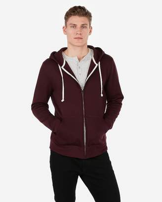 Express Vintage Fleece Full Zip Front Hoodie