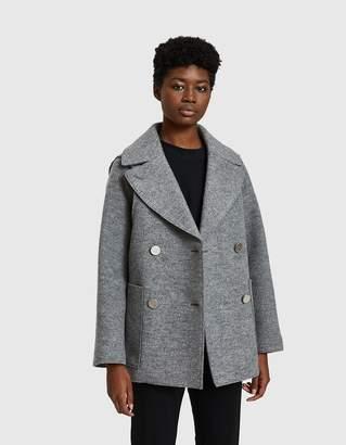 Proenza Schouler Short Coat in Light Grey Melange