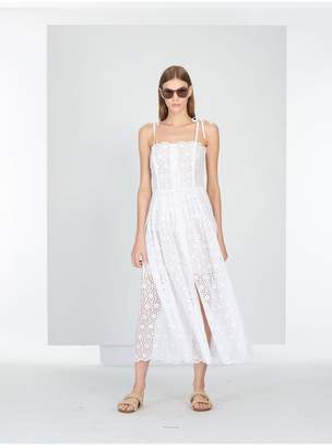 Oscar de la Renta Mykonos Broderie Anglaise Dress