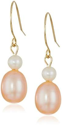 Bella Pearl Dangling 14k Shepherd Hook ed Freshwater Pearl Drop Earrings