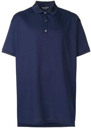 Alexander McQueen embroidered collar polo shirt