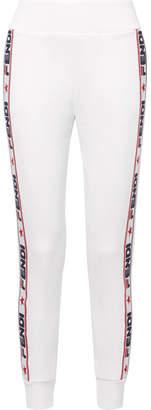 Fendi Appliquéd Cotton-blend Jersey Track Pants - White