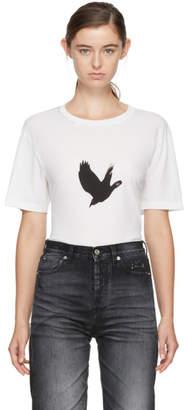 Saint Laurent White Bird T-Shirt