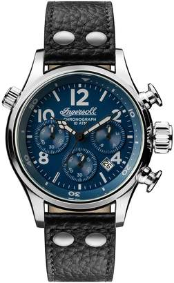 Ingersoll WATCHES Chronograph Leather Strap Watch, 46mm